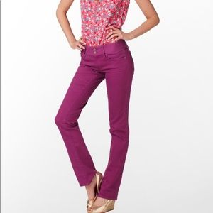 Lilly Pulitzer Worth Straight Jeans Hip Hollyhock